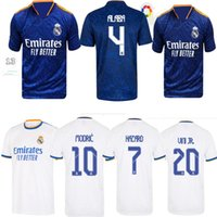 Gerçek Madrid Formalar 21 22 Futbol Futbol Gömlek Alaba Tehlike Sergio Ramos Benzema Asensio Modric Marcelo Camiseta Erkekler + Kids Kiti 2021 2022 casemiro