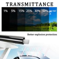 0.5m X 3 6m 1 5 15 25 35 50 Percent VLT Window Tint Film Glass Sticker Sun Shade For Car UV Protector Foils Films Sunshade