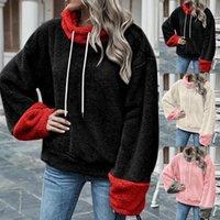 여성용 후드 스웨터 21 여성 겨울 패션 따뜻한 인쇄 긴팔 스웨터 캐주얼 블라우스 풀오버 편안한 고품질 탑스 * NA