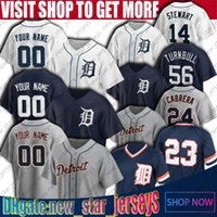 Tigres 56 Spencer Turnbull 46 JeiMer Candelario Jersey Detroit Kirk Gibson Miguel Cabrera Jerseys Victor Reyes Jacoby Jesey Jersey