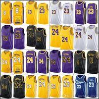 Mens Youth Kids Lebron 23 AurvinJames Jersey 3 0 8 Anthony Kyle Davis Los Kuzma AngelesLakers.24.Bryant.Johnson 32 34s uomini