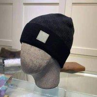 Tasarımcı Örme Şapka Erkek Bayan Moda Artı Kadife Şapka Bonnet Kış Beanie Yün Kap Unisex Kaşmir Ekose Mektuplar Skullies Kalın Snapbacks Caps