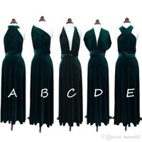 Charming Green Velvet Long Bridesmaid Dresses Custom Made Long Evening Dresses Real Simple Prom Party Dresses Bridesmaid Gowns Plus Size