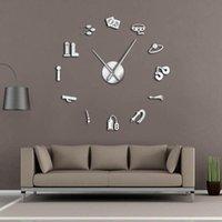 Giant Wall Clock Sex Shop VectorErotic Intimate Art Role Games Artwork Modern Watch Home Living Room Decor Clocks
