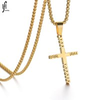 Korean Steel Baseball Cross Necklace Stainless Pendant Hollowed Out Exquisite Polishing Versatile Trend Sequin 0ASF57