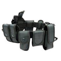Cinturones de seguridad multifuncionales Tactical al aire libre Tactical de entrenamiento militar Guardia Utilitario Cinturón de trabajo con conjunto de bolsa Soporte de cintura