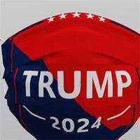 Trump 2024 Maschera riutilizzabile Lavabile Maschera non tessuta Tessuto antipolvere Anti Polvere Haze-Proof Traspirante Unisex Adulti Facemasks 537 V2