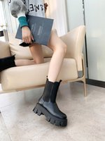 Women Heel Snow Boots Leather ankle boot chunky heel Martin shoes Print Leather Platform Desert Lace-up Boot 5cm 10 colors 731