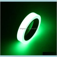 Adhesive Tapes & Stickers Office School Supplies Business Industrial 2016 10Mm*10M Luminous Green Glow In Dark Self-Adhesive Warning S