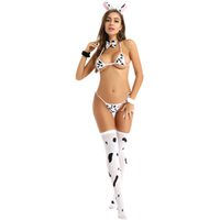 Costumes sexy femmes mignon anime cow rôles joue bikini nightwear kawaii bunnygirl cosplay costume érotique vilain japonais de la lapin lingerie se