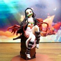 악마의 블레이드 애니메이션 Tanjirou Nezuko 악마 슬레이어 PVC 배낭 액션 피규어 소장 모델 장난감 인형 장식 Sonic X0503