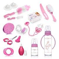 Bebeneo bebê alimentando garrafa de luxo conjunto, escovas de garrafa de bebê, chupeta, armazenamento de mamilo, dentes, aspirador nasal feito na Turquia H1019