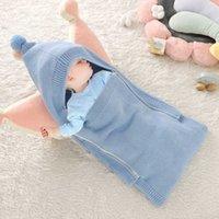 Baby Boy Girl Newborn Kids Anti-kick Hoodie Blanket Cover Sleeping Bag Thicken Design Bedding Wrap 0-12M H1019