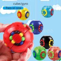DHL Hot Magic Puzzle Fidget Cube Toys Touchs Thread Ball Heras Anti Ansiedad Alivio EDC descompresión para adultos Niños FY9408