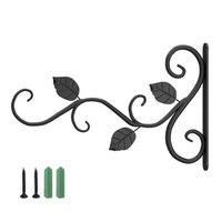 Wall Planter Hooks Garden Hanging Plants Bracket Easy Install Wind Chime Outdoor Indoor Flower Pot Home Decor Patio Lanterns & Rails