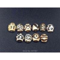 Fengshui Ji Bead 18mm * 20mm 1pc 1PC 1Lot Gancio di soldi Tigre Tiger Treasure Vase Dzi Dzi Stone Naturale Tibetano perline perline