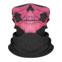 Unisex Halloween Cosplay Bicycle Ski Skull Half Face Mask Ghost Scarf Bandana Neck Warmer Party headband Magic Turban balaclava