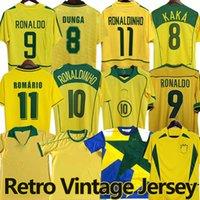 Brasil Retro Soccer Jerseys Ronaldo 1957 85 88 91 94 98 00 02 04 04 06 Ronaldinho Kaka R. Carlos Camisa de Futbol Brazils Football Shirt Rivaldo Classic Vintage Jersey