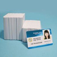 100st Premium vit blank bläckstråle PVC ID-kort Plast dubbelsidig utskrift DIY Badge Smycken påsar, Väskor