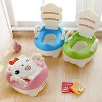 어린이를위한 휴대용 아기 냄비 사소한 훈련 화장실 시트 아기 변기 유아 암소 편안한 등받이 어린이 만화 귀여운 냄비 1600 Y2