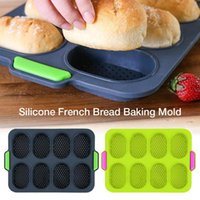 Baking Moulds Non Stick Mold Kitchen Supplies Cake Grade Silicone French Bread Household Hamburger Molds Muffin Pan Tray