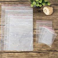 100pcs épaisseur transparent petit serrure zipper sacs en plastique sacgies zip mobile serrure zippé serrure reclosable sac de stockage en poly sac à aliment 509 r2