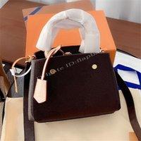 2021 femmes luxurys designers célèbres M41055 M41056 Sac à sacs à sacs à sacs à coquille de Montaigne Cuir Couverture Couverture Mode Crossbody Browbody Sac à main Tote sacs sacs à main sacs à main