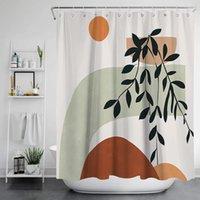 Nordic Style Duschvorhang Mode Muster Badvorhänge Badezimmer Wasserdichte Vorhang