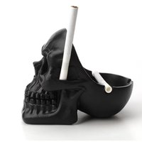 Wholesale Creative horror skull shape Ashtray bag household desktop resin ornaments VS rolling tray