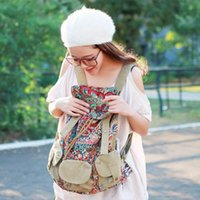 Party Favor Retro Bohemian Embroidery National Printed Canvas Backpack Hand - Embroidered Flower Bag
