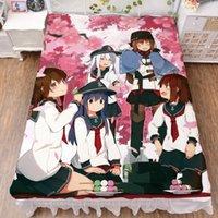 مجموعات صفائح 2021-أغسطس اليابانية أنيمي كانتاي جمع Kancolle مثير فتاة الفانيلا بطانية الصيف لحاف السرير الألياف ورقة 150x200 سنتيمتر