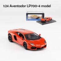 محاكاة 124 lambor Aventador LP700-4 الرياضة سيارة سيارة واقعية دييكاست لعبة سيارة نموذج جمع هدية لعب للأطفال