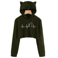 Women Autumn Spring Tops Drawstring Womens Cat Ear Long Sleeve Hoodie Sweatshirt Hooded Pullover Blouse Women's Hoodies & Sweatshirts