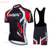 2021 Новый Mavic Pro Team Велосипед Велоспорт Одежда Мужской Летний Коротким Рукавом Велоспорт Джерси Установите Дышащий MTB Велосипедные Набор X0503