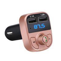 FM الارسال aux modulator بلوتوث يدوي سيارة كيت سيارة الصوت مشغل mp3 مع 3.1a شحن سريع شاحن سيارة USB المزدوج