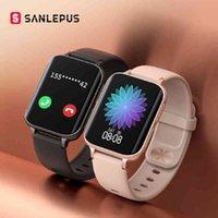 Designer Brand Brand Orologi Sanlepus Smart Dial Call Es Uomo Donna Impermeabile Smart MP3 Lettore per Android Oppo Apple Huawei