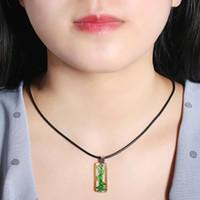 Europa clásico esmaltado esmalte colgante collares verde murano vidrio para mujeres
