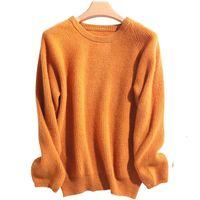 Men's Sweaters De Caxemira Pulver o Pescoo Inverno Manga Longa Solta Malha Macia l Merino Feminina Jumper 3RWT