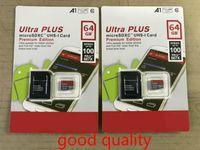 DHL Доставка Высокое Качество Новый Ultra A1 32GB / 64GB / 128GB / 256GB / 64GB / 128GB / 256GB SDK Micro Memory SD-карта 100 МБ / S UHS-I C10 TF Card с адаптером