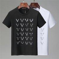 남성 T 셔츠 2021 남자를위한 여름 셔츠 여성 짧은 소매 티 의류 편지 패턴 인쇄 티셔츠 크루 넥 크기 M-XXXL