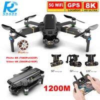 1.2km de larga distancia Kai1 Pro Drones con cámara de 3 ejes 8K HD 4K Video 5G WiFi Sin escobillas Quadcopter Drone Professional