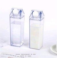 1pcs 물 병 우유 상자 재미 투명 패션 음료 카톤 주전자 완벽 한 선물 음료 카톤 주스에 대 한 쿠틀 커피 차 2082 v2