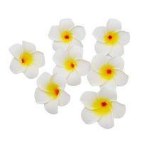 100 teile / los Plumeria Hawaiianer PE Schaum Frangipani Künstliche Blume Kopfschmuck Blumen Ei Hochzeit Dekoration Partei liefert