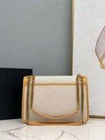 2021 Monedero de lujo y ki Cadena de lona Bolsas de hombro NI Designer Mujeres Moda Lino Totes Bolsos Cera 28 cm