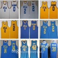 UCLA BRUINS 대학 농구 러셀 웨스트 브룩 LINZO 공 ZACH LAVINE REGGIE Miller Bill Walton Kevin Love Blue Jersey Size S-2XL