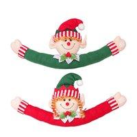 Weihnachtsvorhang Schnalle Puppe Santasnowman Kreative Vorhänge Halten Zurück Fastener Weihnachten Ferienhaus Fenster Dekorationen GWD8017