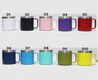 10 ألوان 14 أوقية الفولاذ المقاوم للصدأ فنجان القهوة فراغ طبقة مزدوجة البيرة أكواب معزول 14 أوقية الكؤوس مع غطاء 10 الألوان بواسطة dhl dhd6851
