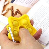 NewDeCompression 장난감 실리콘 푸시 Fidet 장난감 키 체인 키즈 성인 간단한 딤플 손가락 거품 다채로운 키 펜던트 ZZE7943