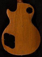 Idosos / relíquias 57 Gold top guitarra elétrica, 1 pc bodyneck, porca de osso, pequena ponte de pino