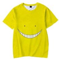 Erkek T-Shirt 3D Baskı Suikast Classroom Karikatür Ansatsu Kyoushitsu Serin Çocuklar T-shirt Moda Streetwear Kısa Kollu Erkekler / Kadın Tee
